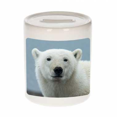 Dieren foto spaarpot grote ijsbeer ijsberen spaarpotten jongens meisjes