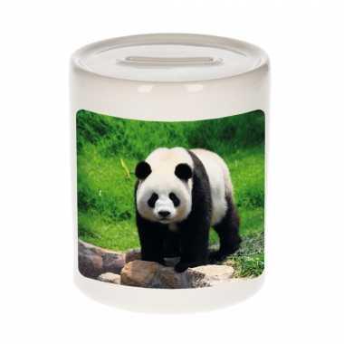 Dieren foto spaarpot grote panda pandaberen spaarpotten jongens meisjes