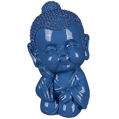 Grote boeddha spaarpot blauw