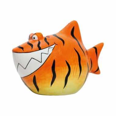 Grote dieren spaarpot oranje tijgerhaai