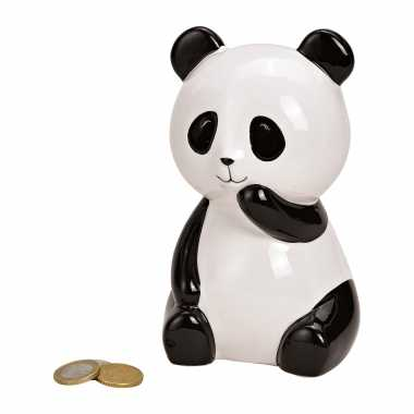 Grote dieren spaarpot zwarte/witte panda