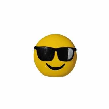 Grote emoticon cool spaarpot