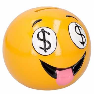 Grote emoticon dollar ogen spaarpot