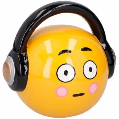 Grote emoticon headphone spaarpot