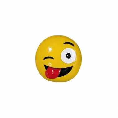 Grote emoticon knipoog tong spaarpot