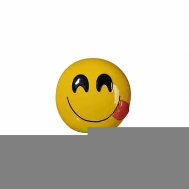 Grote emoticon smile tong spaarpot