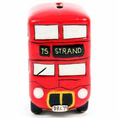 Grote  Engelse bus spaarpot keramiek