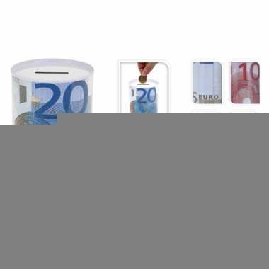 Grote  eurobiljet spaarpot