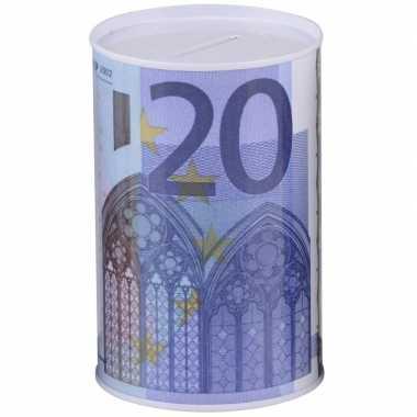 Grote geld spaarpot euro biljet