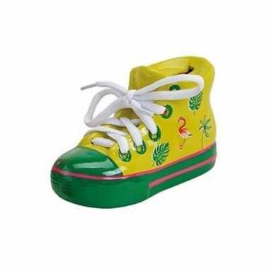 Grote gele schoen spaarpot