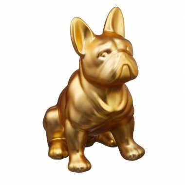 Grote gouden franse bulldog honden spaarpot