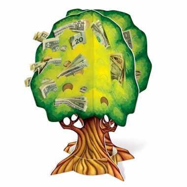 Grote groen geldboompje spaarpot