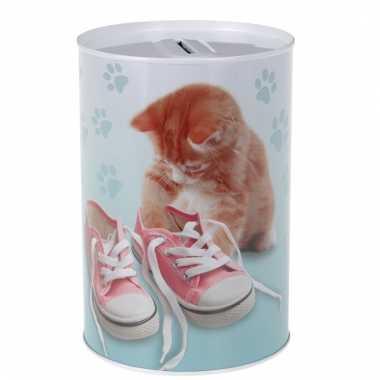 Grote katten/poezen schoenen spaarpot