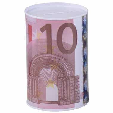 Grote kinder spaarpot euro biljet