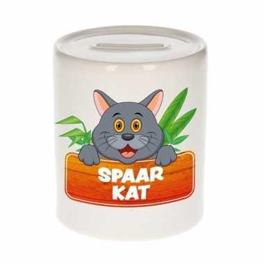 Grote kinder spaarpot grijze katten