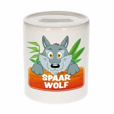 Grote kinder spaarpot wolven