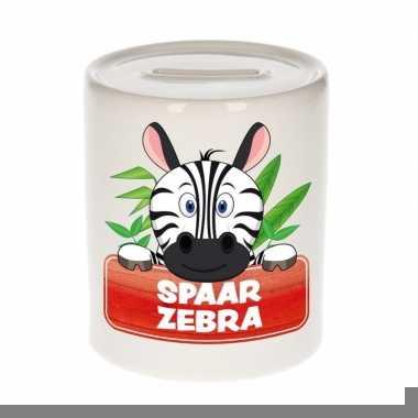 Grote kinder spaarpot zebra