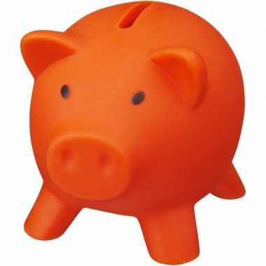 Grote mini spaarvarken/spaarpot oranje