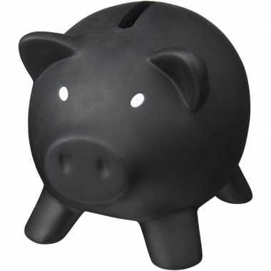 Grote mini spaarvarken/spaarpot zwart