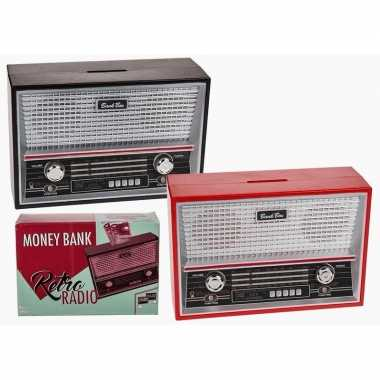 Grote rode radio spaarpot