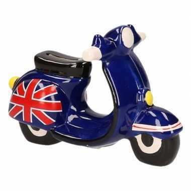 Grote scooter spaarpot zwart