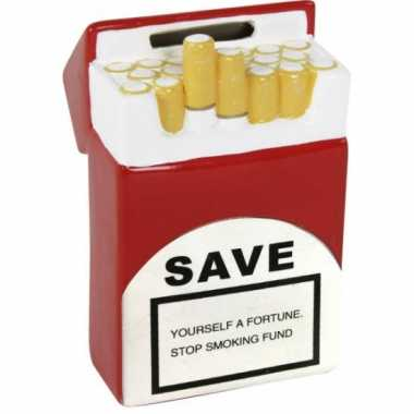 Grote sigaretten pakje spaarpot