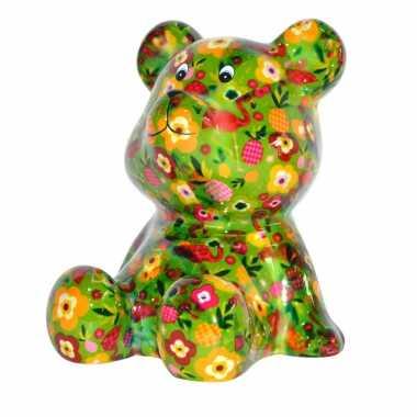 Grote spaarpot beer groen fruit
