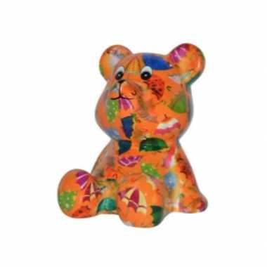 Grote spaarpot beer oranje paraplu
