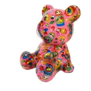 Grote spaarpot beer roze russische baboesjka poppetjes