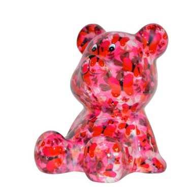 Grote spaarpot beer roze vlinder