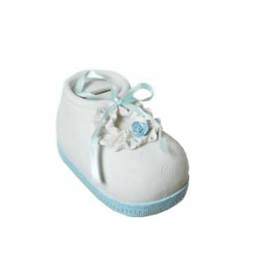 Grote  Spaarpot blauwe babyschoen