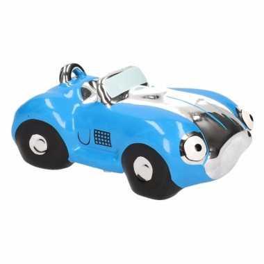 Grote spaarpot blauwe sportauto cabriolet