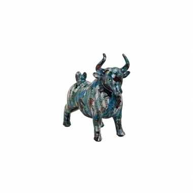 Grote spaarpot blauwe stier muzieknoten
