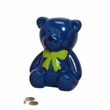 Grote spaarpot blauwe teddybeer