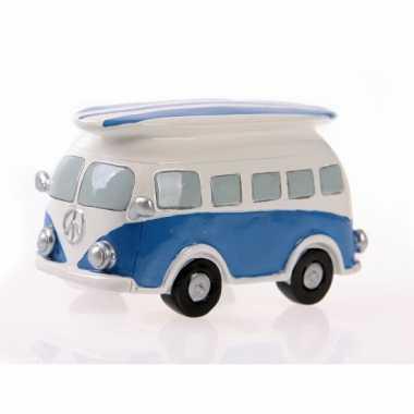 Grote  Spaarpot blauwe Volkswagen bus