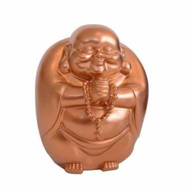 Grote spaarpot boeddha koper kleur