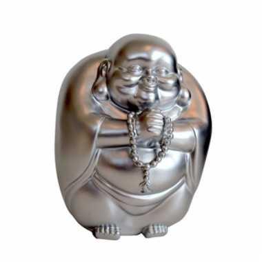 Grote spaarpot boeddha zilver