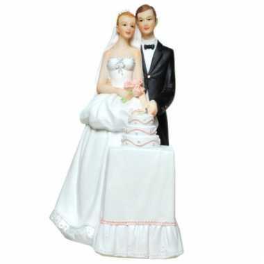 Grote  Spaarpot bruidspaar bruidstaart