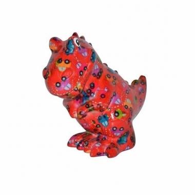 Grote spaarpot dinosaurus rood