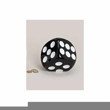 Grote  Spaarpot dobbelsteen zwart