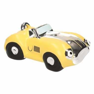 Grote spaarpot gele sportauto cabriolet