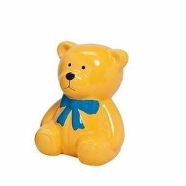 Grote spaarpot gele teddybeer