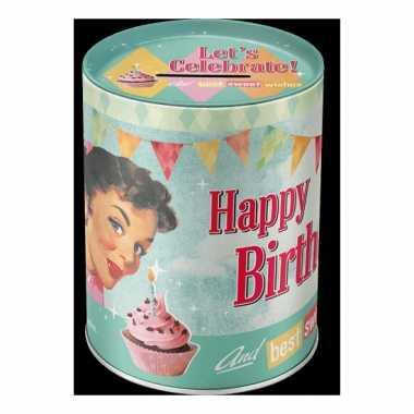 Grote  Spaarpot happy birthday