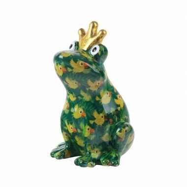 Grote spaarpot kikker kroontje groen type