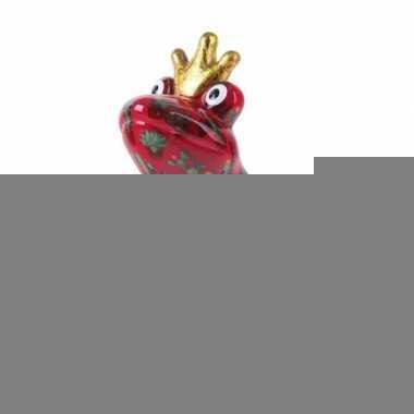 Grote spaarpot kikker kroontje rood type