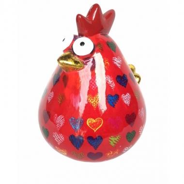 Grote xl spaarpot kip rood