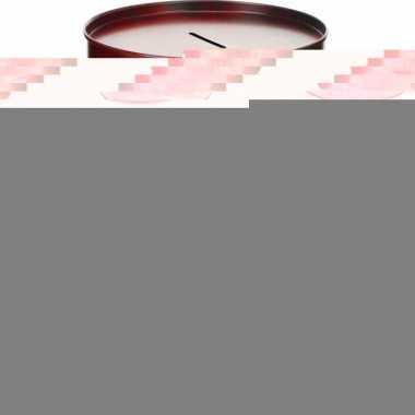 Grote spaarpot money barrel rood