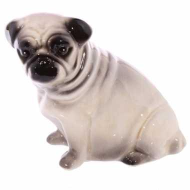 Grote  Spaarpot mopshond hond