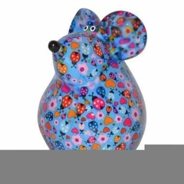 Grote spaarpot muis blauw