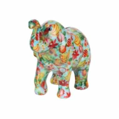 Grote spaarpot olifant blauw fruit